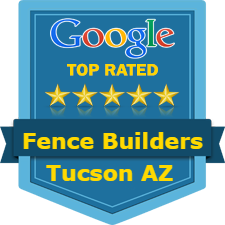 a logo stating the top rated fence company in Tucson AZ